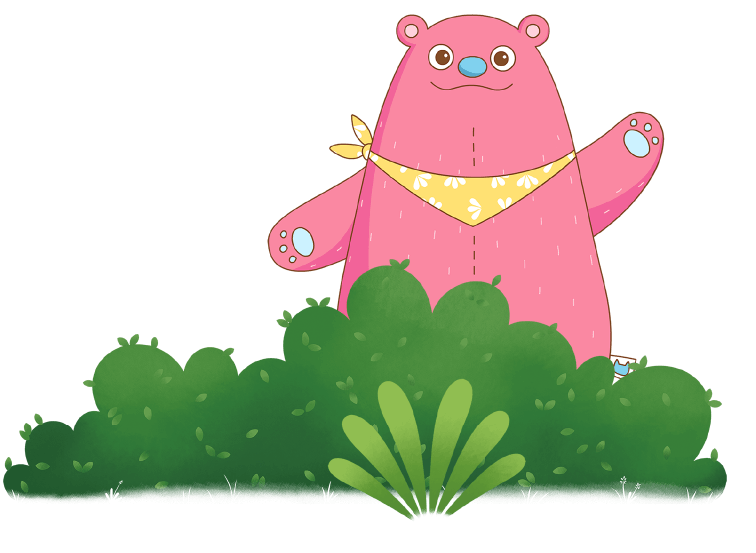 Pink Bear Waving
